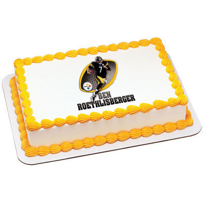 Pittsburgh Steelers Ben Roethlisberger NFL Edible Cake, Cupcake & Cookie Topper