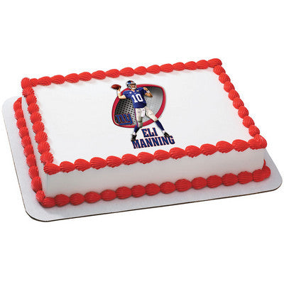 New York Giants Eli Manning NFL Edible Cake, Cupcake & Cookie Topper