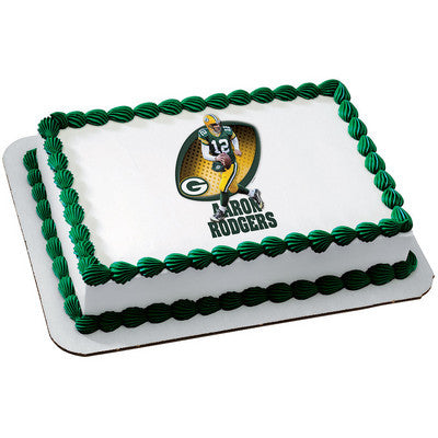 Green Bay Packers Aaron Rodgers NFL Edible Cake, Cupcake & Cookie Topper