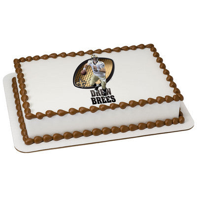 New Orleans Saints Drew Brees NFL Edible Cake, Cupcake & Cookie Topper