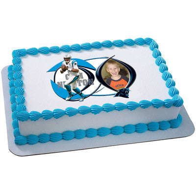Carolina Panthers Cam Newton Picture Frame NFL Edible Cake, Cupcake & Cookie Topper