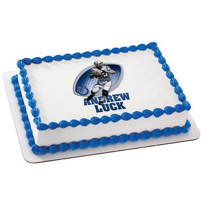 Indianapolis Colts Andrew Luck NFL Edible Cake, Cupcake & Cookie Topper