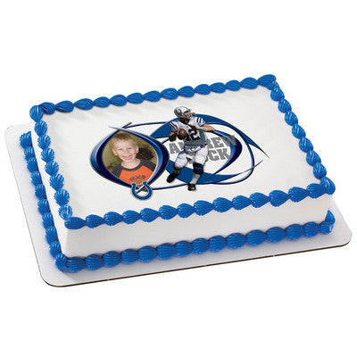Indianapolis Colts Andrew Luck Picture Frame NFL Edible Cake, Cupcake & Cookie Topper