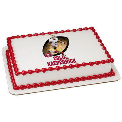 San Francisco 49ers Colin Kaepernick NFL Edible Cake, Cupcake & Cookie Topper