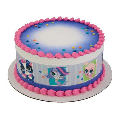 Littlest Pet Shop Penny, Zoe & Minka Edible Cake Side Print