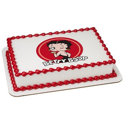 Betty Boop Kiss & Wink Edible Cake, Cupcake & Cookie Topper