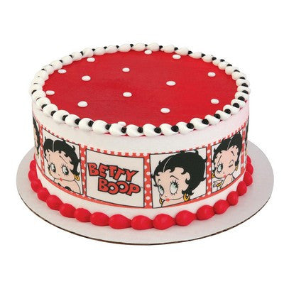 Betty Boop Movie Star Edible Cake Side Print