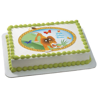 Little Golden Books The Tawny Scrawny Lion Edible Cake, Cupcake & Cookie Topper