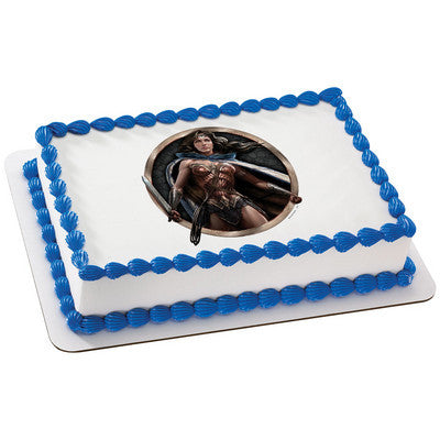 Batman v Superman: Dawn of Justice Diana Prince Edible Cake, Cupcake & Cookie Topper