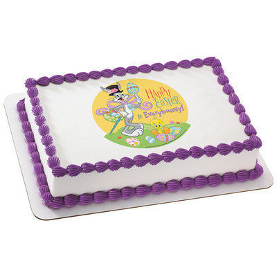 Looney Tunes Happy Easter Everybunny! Edible Cake, Cupcake & Cookie Topper
