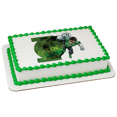 Justice League Green Lantern's Light Edible Cake, Cupcake & Cookie Topper