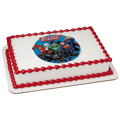 Justice League Cry for Justice Edible Cake, Cupcake & Cookie Topper