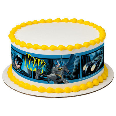 Batman Fwoosh, Krak, Wham Edible Cake Side Print