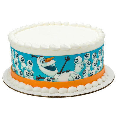 Frozen Olaf & Snowgies  Edible Cake Side Print