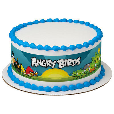 Angry Birds Make Way for the Angry Edible Cake Side Print