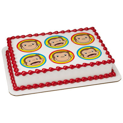 Curious George Big Smiles Edible Cake, Cupcake & Cookie Topper