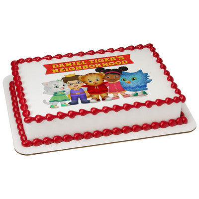 Daniel Tiger Neighborhood Friends Edible Cake, Cupcake & Cookie Topper