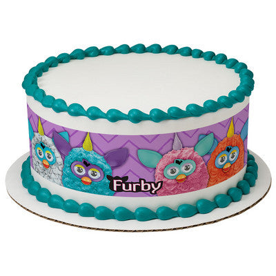 Furby Let's Have FunEdible Cake Side Print