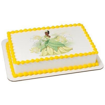 Disney Princess Tiana Sparkle & Shine Edible Cake, Cupcake & Cookie Topper