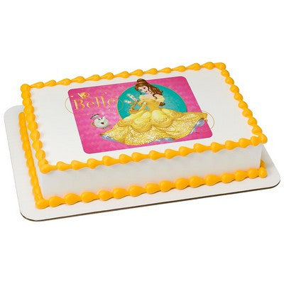 Disney Princess Belle Loyal Friends Edible Cake, Cupcake & Cookie Topper