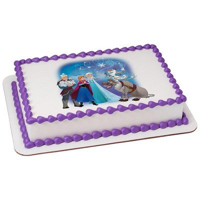 Frozen Northern Lights Icy Magic Edible Cake, Cupcake & Cookie Topper