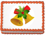 Golden Bell Christmas Edible Cake, Cupcake & Cookie Topper