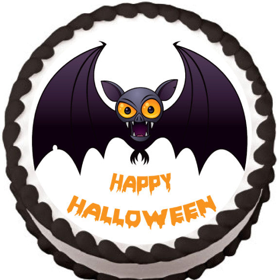 Vampire Bat Halloween Edible Cake, Cupcake & Cookie Topper