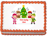 Christmas Carollers Edible Cake, Cupcake & Cookie Topper