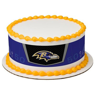 Baltimore Ravens NFL Edible Cake Side Print