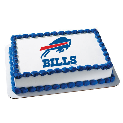 Buffalo Bills NFL Edible Cake, Cupcake & Cookie Topper