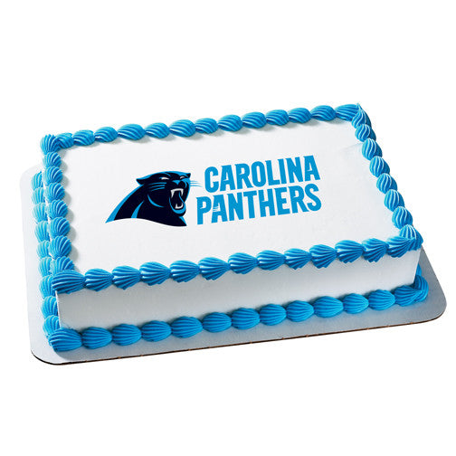 Carolina Panthers NFL Edible Cake, Cupcake & Cookie Topper
