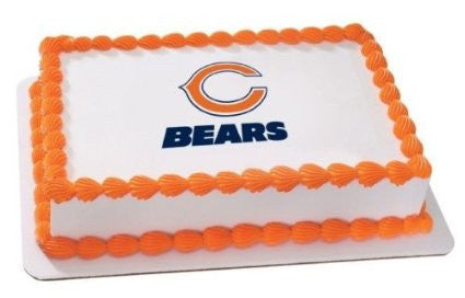 Chicago Bears NFL Edible Cake, Cupcake & Cookie Topper