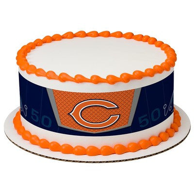 Chicago Bears NFL Edible Cake Side Print