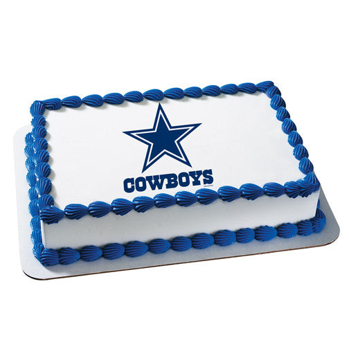 Dallas Cowboys NFL Edible Cake, Cupcake & Cookie Topper