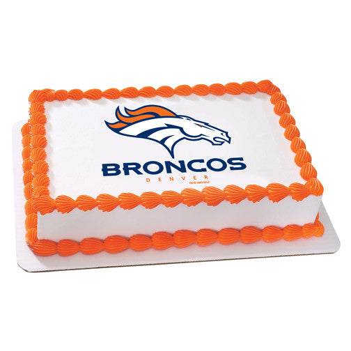 Denver Broncos NFL Edible Cake, Cupcake & Cookie Topper