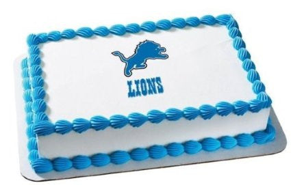 Detroit Lions NFL Edible Cake, Cupcake & Cookie Topper