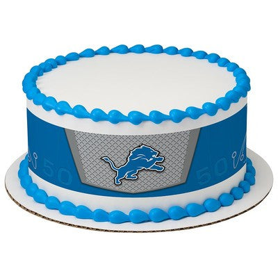 Detroit Lions NFL Edible Cake Side Print