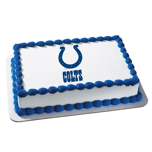 Indianapolis Colts NFL Edible Cake, Cupcake & Cookie Topper