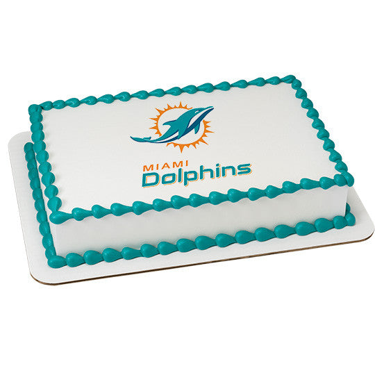 Miami Dolphin NFL Edible Cake, Cupcake & Cookie Topper