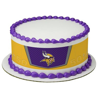 Minnesota Vikings NFL Edible Cake Side Print