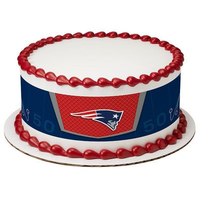 New England Patriots NFL Edible Cake Side Print