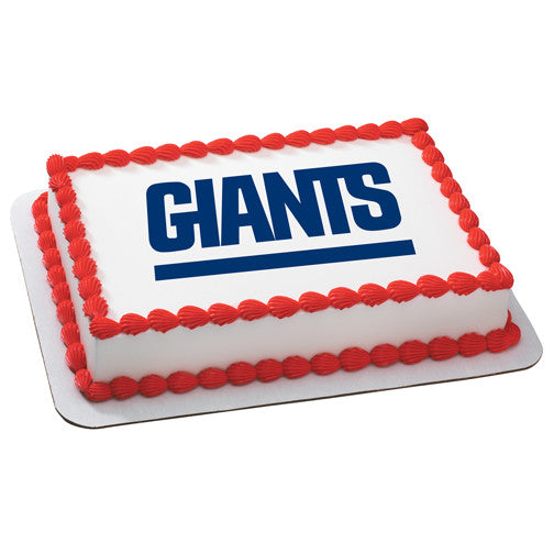 New York Giants NFL Edible Cake, Cupcake & Cookie Topper