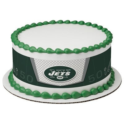 New York Jets NFL Edible Cake Side Print
