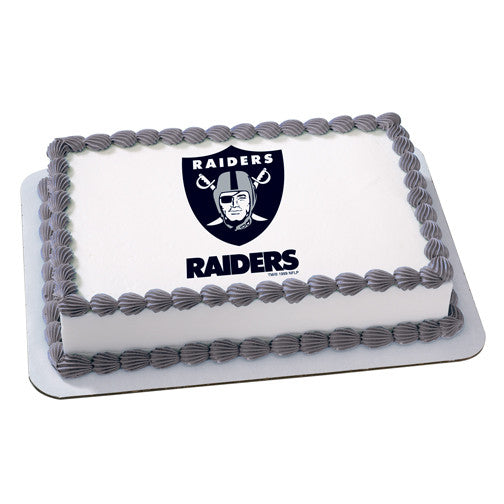 Oakland Raiders NFL Edible Cake, Cupcake & Cookie Topper