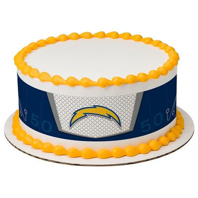 San Diego Chargers NFL Edible Cake Side Print