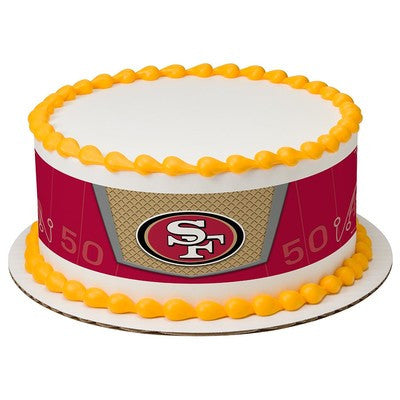 San Francisco 49ers NFL Edible Cake Side Print