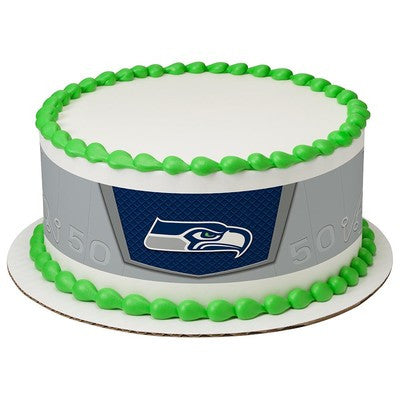 Seattle Seahawks NFL Edible Cake Side Print
