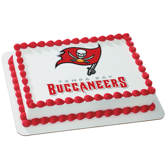 Tampa Bay Buccaneers NFL Edible Cake, Cupcake & Cookie Topper