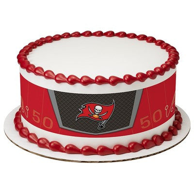Tampa Bay Buccaneers NFL Edible Cake Side Print