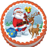 North Pole Christmas Edible Cake, Cupcake & Cookie Topper